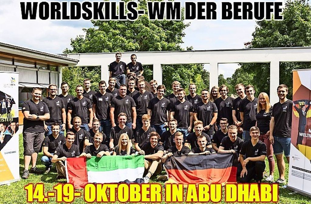 Das Team WorldSkills Germany geht bei den 44. Weltmeisterschaften der Berufe in Abu Dhabi mit 42 Athleten an den Start. Foto: WorldSkills Germany/Frank Erpinar/Meme