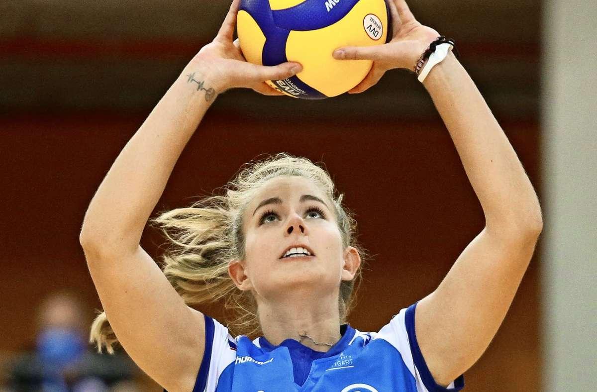 Zurück am Ball: Pia Kästner von Volleyball-Erstligist Allianz MTV Stuttgart Foto: Baumann
