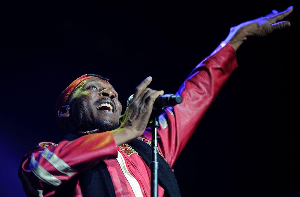 Der Reggae-Pionier Jimmy Cliff beim Bluesfest Byron Bay 2013: Ihm macht Musik noch immer Spaß. Foto: Getty