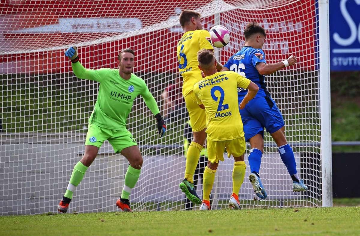 Stuttgarter Kickers gegen SGV Freiberg – dieses Duell wird es erneut in der Oberliga geben. Foto: Baumann
