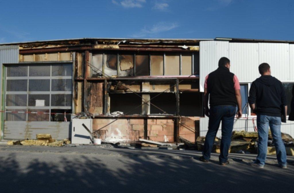 Die Außenfassade einer Flüchtlingsunterkunft in Oberteuringen wurde beschädigt. Foto: dpa