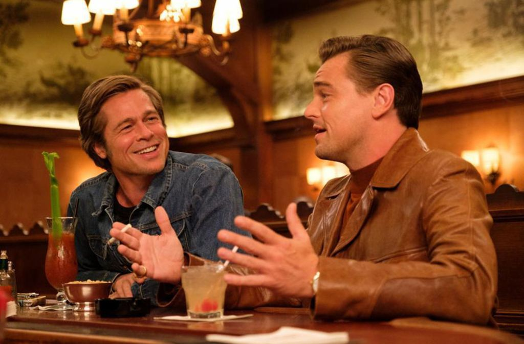"""Brad Pitt und Leonardo DiCaprio in """"Once upon a Time.. In Hollywood"""". Foto: Sony"""