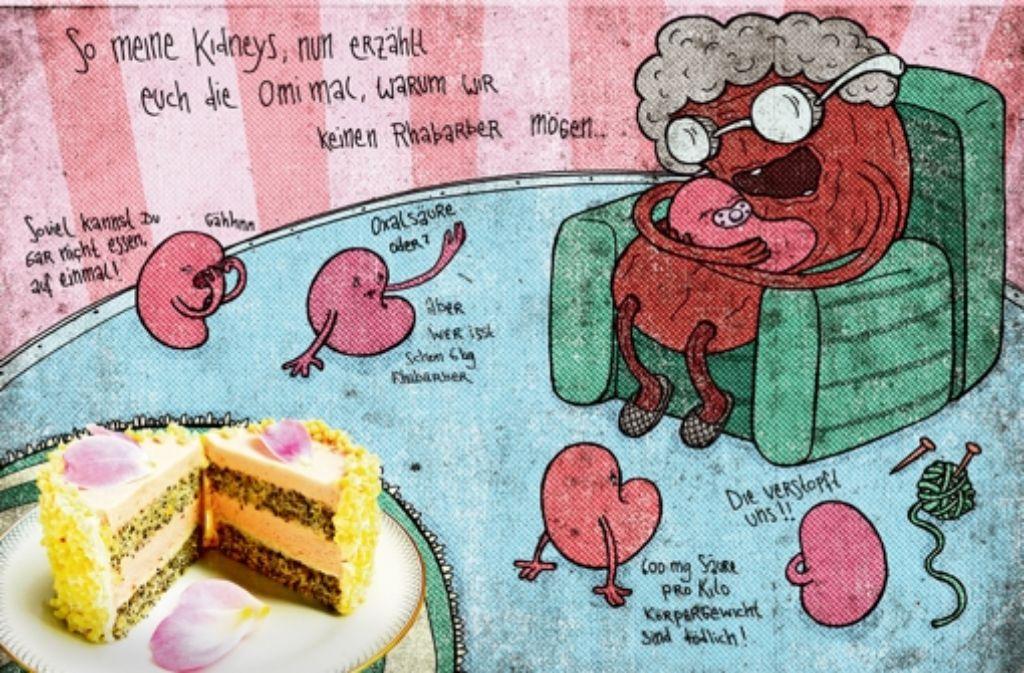 Katharina Bretsch setzt die veganen Gerichte in ihrem  Kochbuch humorvoll in Szene. Foto: Bretsch