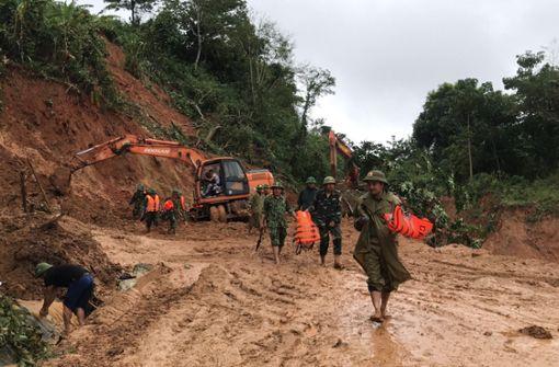22 Soldaten bei Erdrutschen getötet
