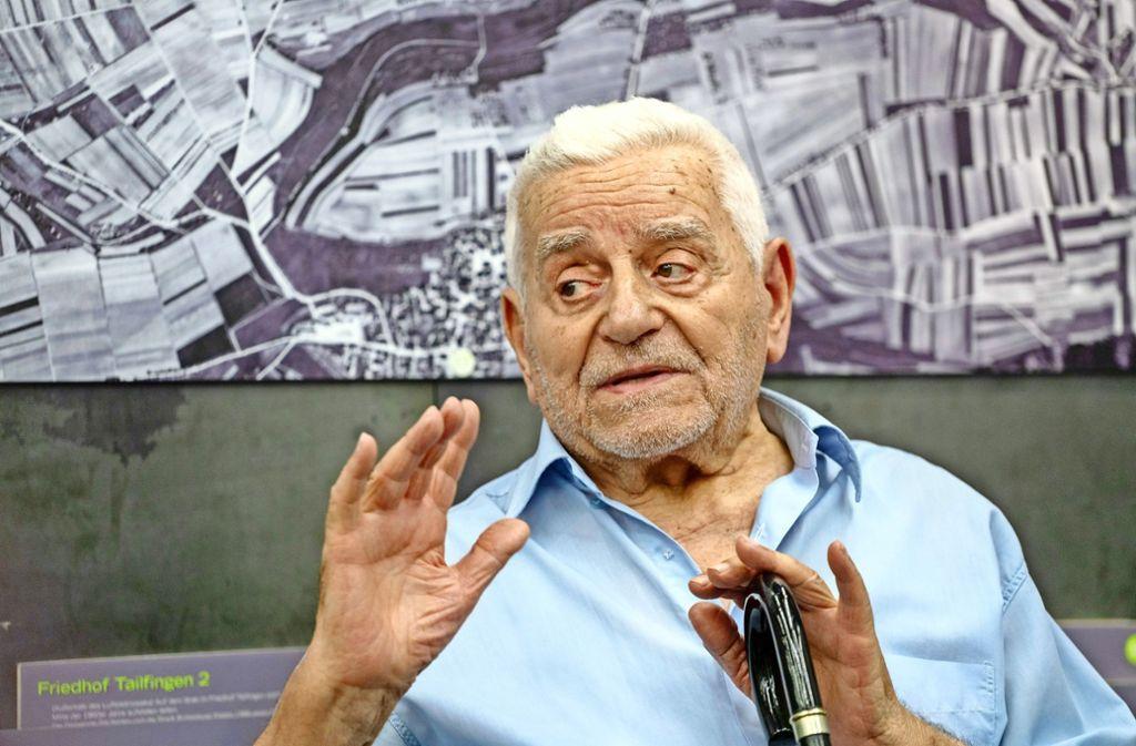 Nikos Skaltsas erinnert sich bis heute lebhaft an seine Zeit als Zwangsarbeiter in Tailfingen. Foto: factum/Weise