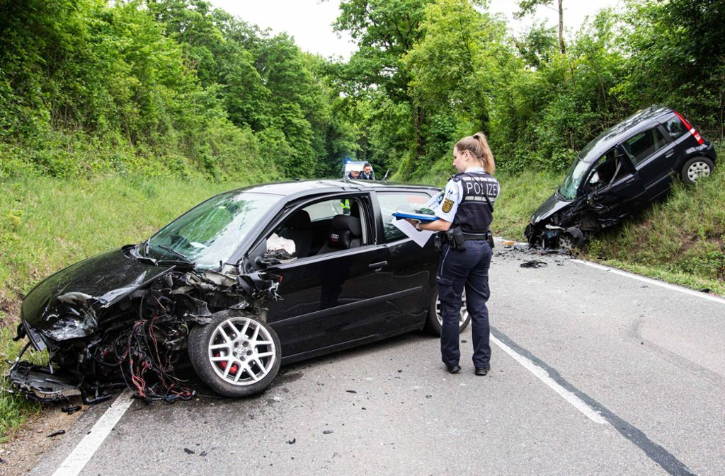 Drei Menschen wurden bei dem Unfall im Kreis Ludwigsburg verletzt. Foto: 7aktuell.de/ JB/7aktuell.de   JB