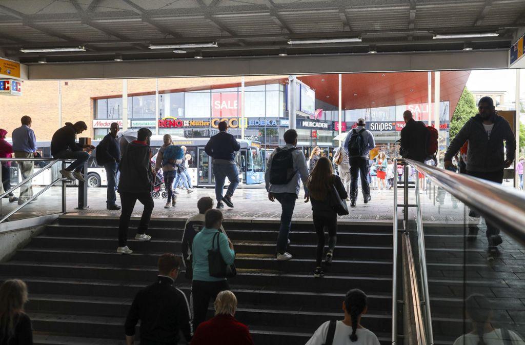 Der Bahnhof in Böblingen wurde am Sonntag Schauplatz einer Schlägerei. Foto: factum/Weise