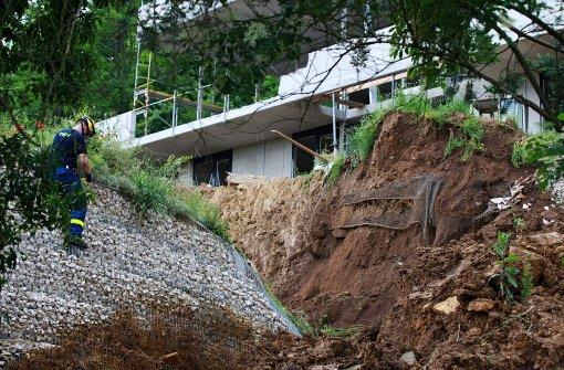 14 Häuser nach Erdrutsch geräumt