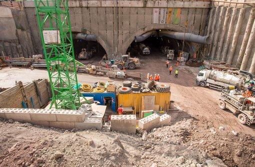 Die Arbeiten für Stuttgart 21 – hier die Tunnel nach Feuerbach und Bad Cannstatt – gehen weiter. Foto: Martin Stollberg