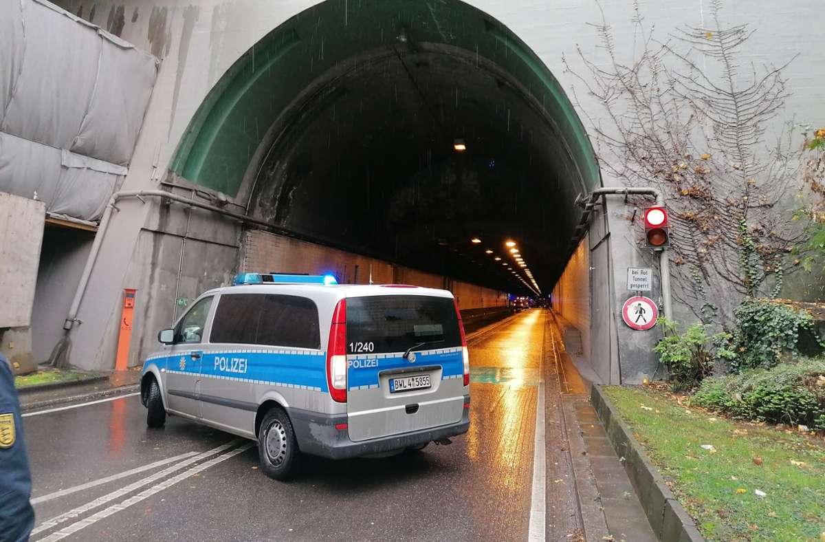 Der Wagenburgtunnel war aufgrund des Unfalls gesperrt. Foto: Andreas Rosar/Fotoagentur Andreas Rosar