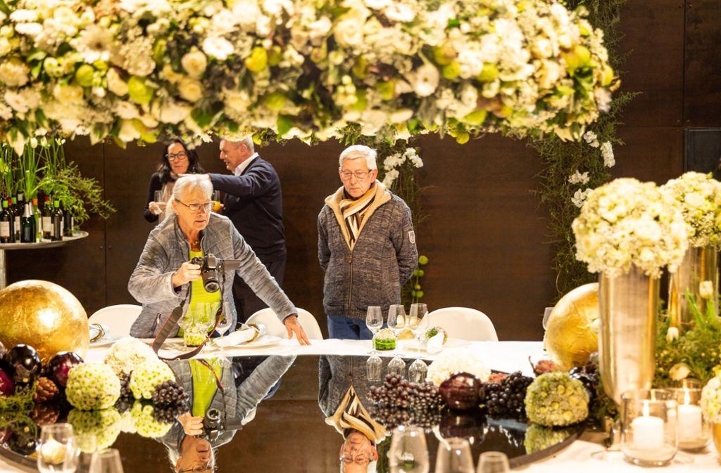 Impression vom Januar aus der viel besuchten Blumenschau der Herzogin-Sibylla-Tafel in der Glockenkelter. Foto: Nicklas Santelli