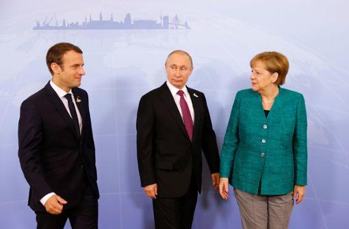 Ostukraine-Konflikt: Merkel und Macron treffen Putin und Selenskyj