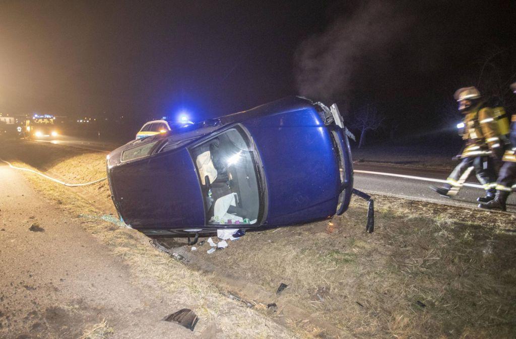 Der Audi musste nach dem Crash abgeschleppt werden. Foto: 7aktuell.de/Simon Adomat