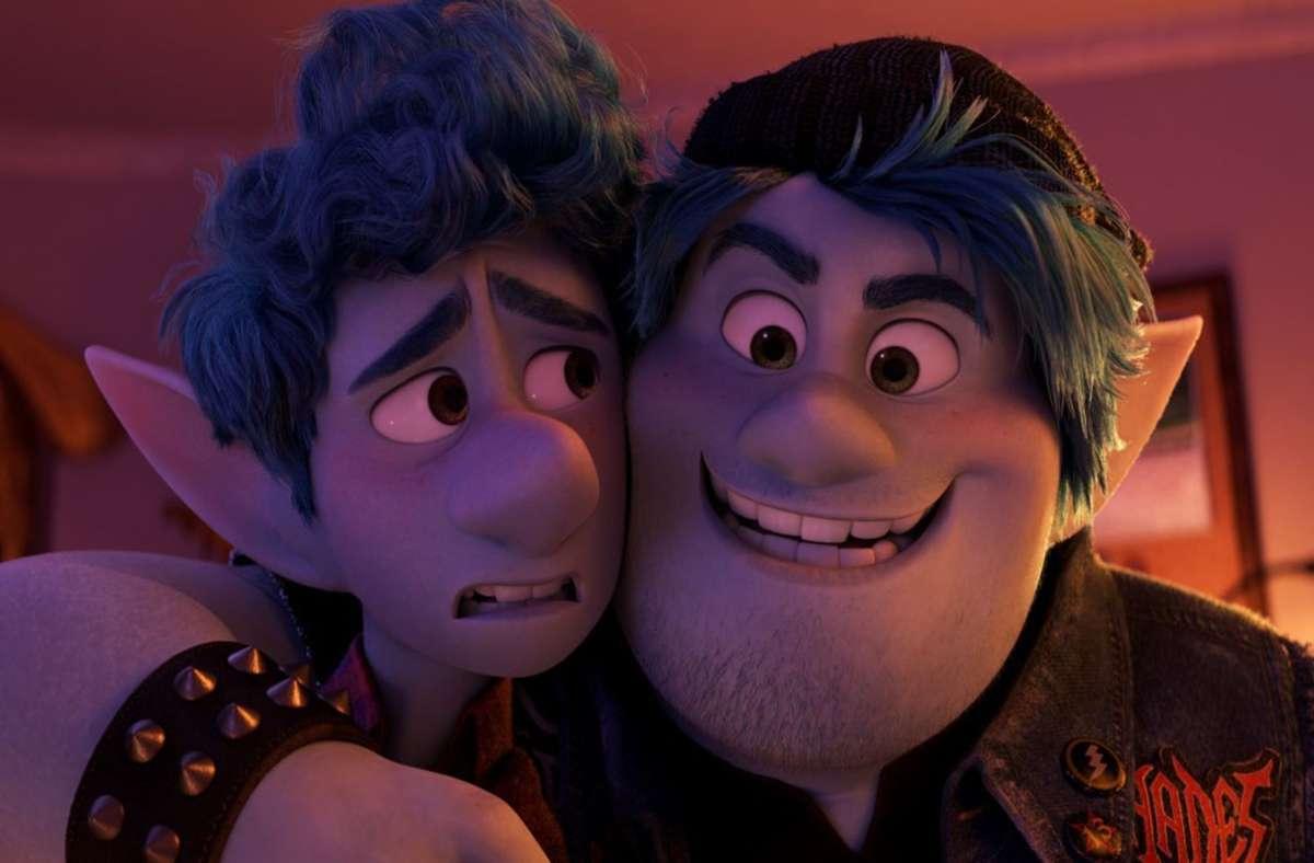 """Welchen Eintrittspreis hätten die beiden wohl zahlen müssen? Die Helden des Pixar-Abenteuers """"Onward"""" Foto: Disney/Pixar"""