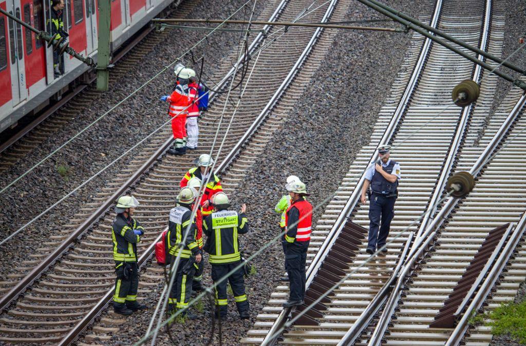 Am Bahnhof Obertürkheim wurde eine Person von einer S-Bahn erfasst. Foto: 7aktuell.de/Max Kurrer