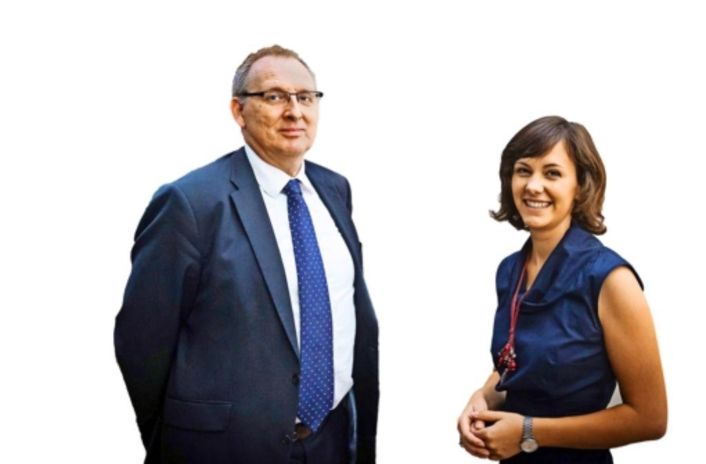 Klaus Grewe und Friederike Bornträger Foto: Achim Zweygarth