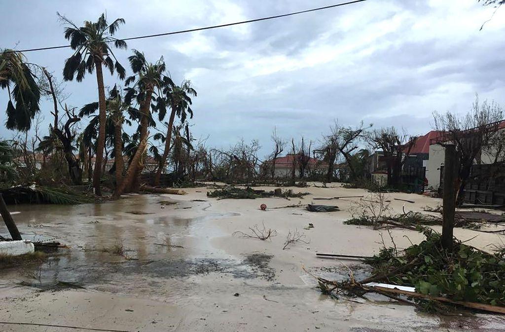 """Hurrikan """"Irma"""" wütet über der Karibik. Foto: FACEBOOK"""