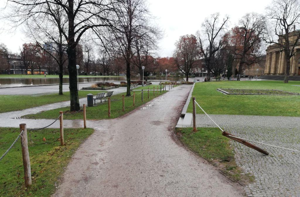 Die temporäre Strecke  entlang des Landtags missfällt den Grünen im Bezirk Mitte. Foto: Cedric Rehman