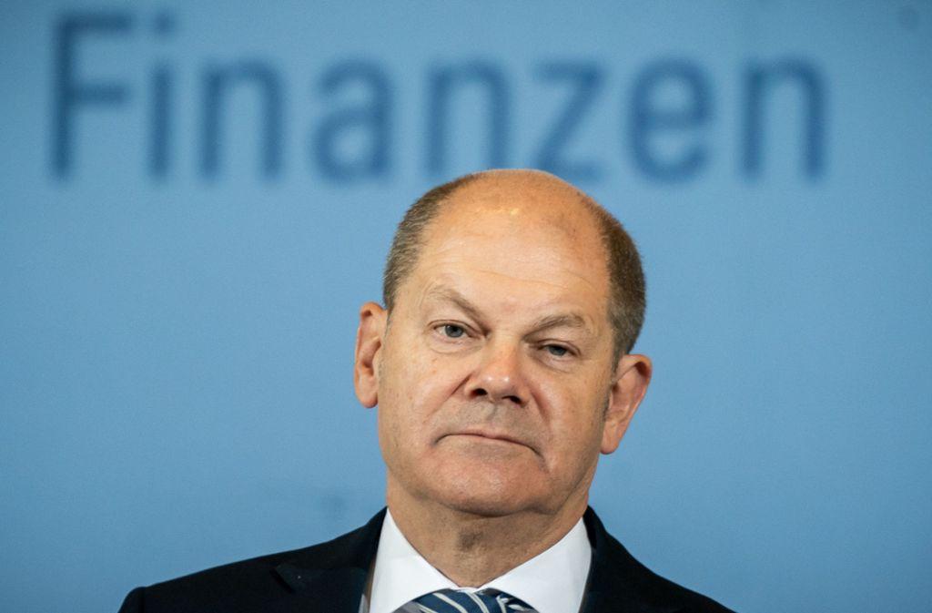 Olaf Scholz prescht mit EU-Idee   vor und irritiert  den Koalitionspartner. Foto: dpa/Michael Kappeler