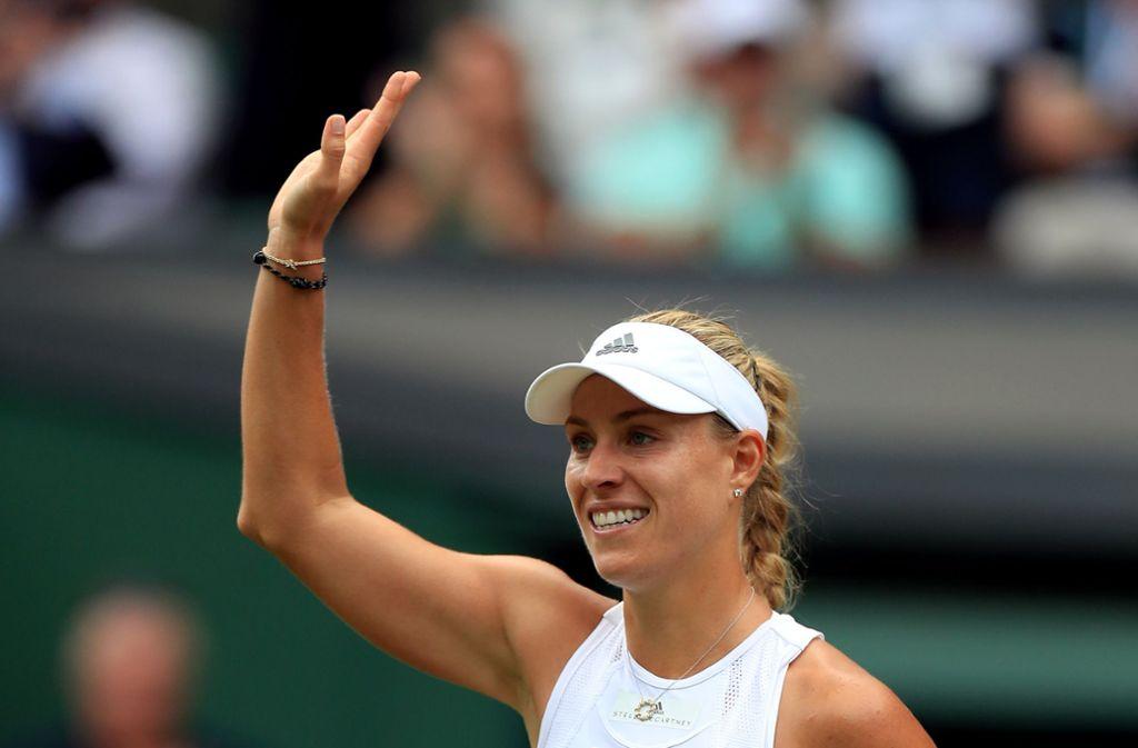 Angelique Kerber steht in der zweiten Runde von Wimbledon. Foto: Mike Egerton/PA Wire/dpa