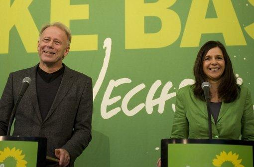 Spitzenkandidaten für 2013: Jürgen Trittin und Katrin Göring-Eckardt Foto: dapd
