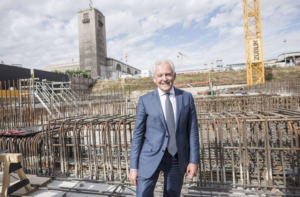 Den Fortgang der Bauarbeiten am Tiefbahnhof wird Rüdiger Grube nun nicht mehr mitfeiern. Foto: imago stock&people