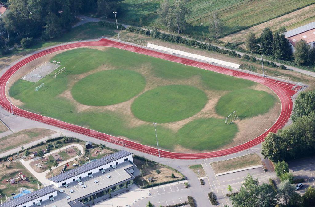 So sieht zurzeit der Rasen des Fußballfelds in Bad Buchau aus. Foto: dpa