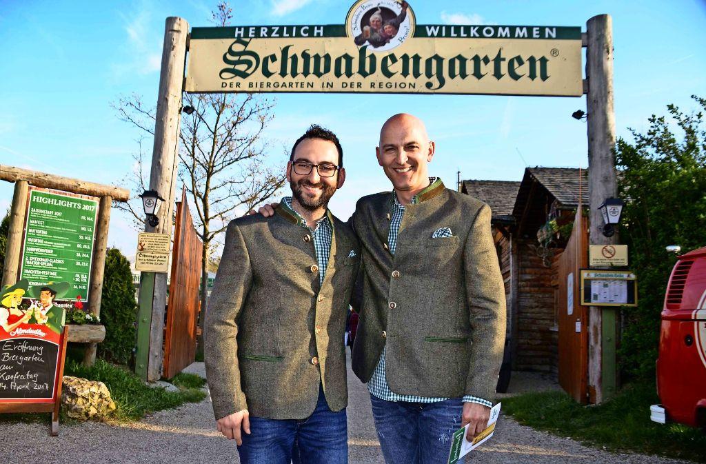 Die neuen Pächter vom Schwabengarten in Leinfelden. Foto: Andreas Rosar