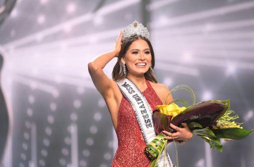Andrea Meza gewinnt die Wahl beim Schönheitswettbewerb