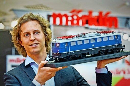 Florian Sieber glaubt daran, dass Märklin wieder auf den Wachstumspfad finden kann. Dazu sollen neben Sammlerprodukten (im Bild) vor allem Spielzeugbahnen beitragen. Foto: dpa