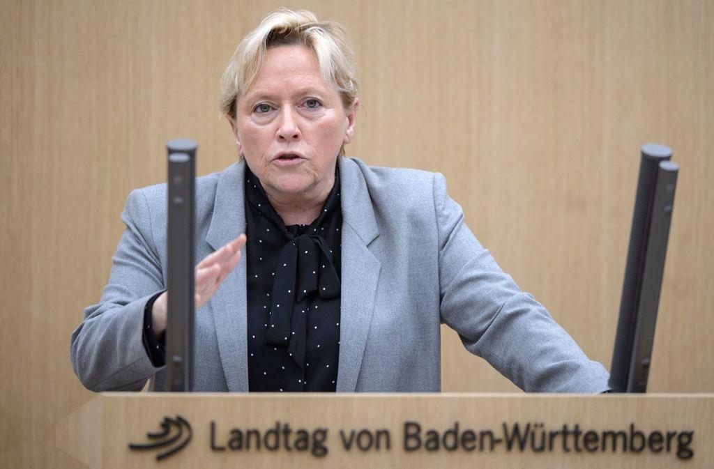 Susanne Eisenmann ist die verantwortliche Kultusministerin von Baden-Württemberg. Foto: dpa