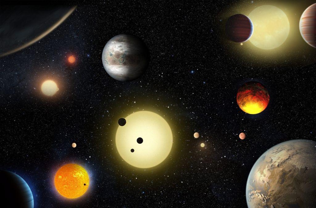 Das Bild der NASA vom 10. Mai 2016 zeigt eine Darstellung der Planeten, die das Weltraum-Observatorium Kepler gemacht hat. 1284 neue Planeten hat das Kepler-Teleskop entdeckt. Foto: NASA