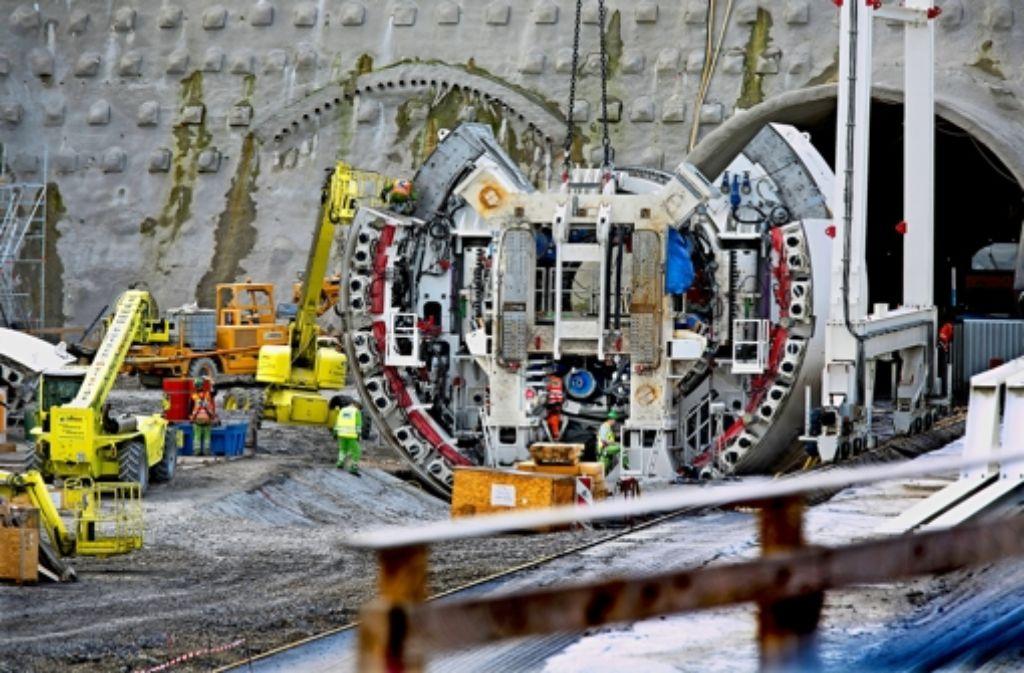 Imposantes Bauwerk: der Beginn des Fildertunnels am Fasanenhof Foto: : Horst Rudel