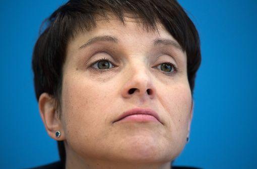 Immunität von Frauke Petry endgültig aufgehoben