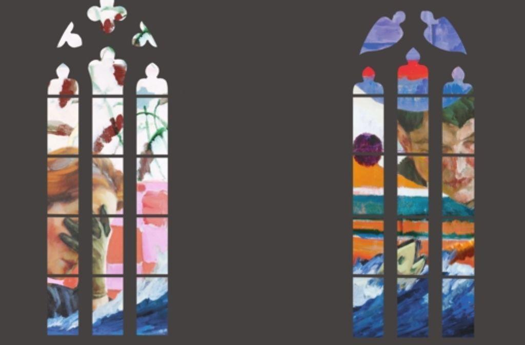 Die Entwürfe für die Fenster der Kilianskirche in Heilbronn von Foto: Fritz-Kador
