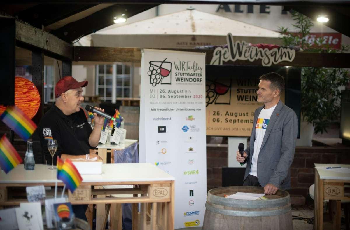 Moderator Jens Zimmermann (re.) mit Gesprächspartner Detlef Raasch Foto: Leif Piechowski/Lichtgut