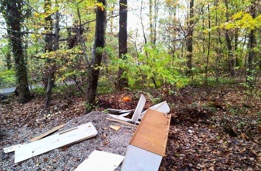 Der Wald ist keine Müllhalde