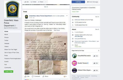 Polizisten suchen Liebesbrief-Verfasser aus dem Jahr 1944