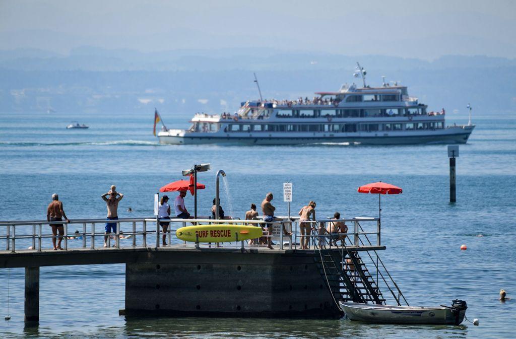 Am Bodensee liegt der Pegel 65 Zentimeter unter dem üblichen Mittelwert für Juli Foto: dpa