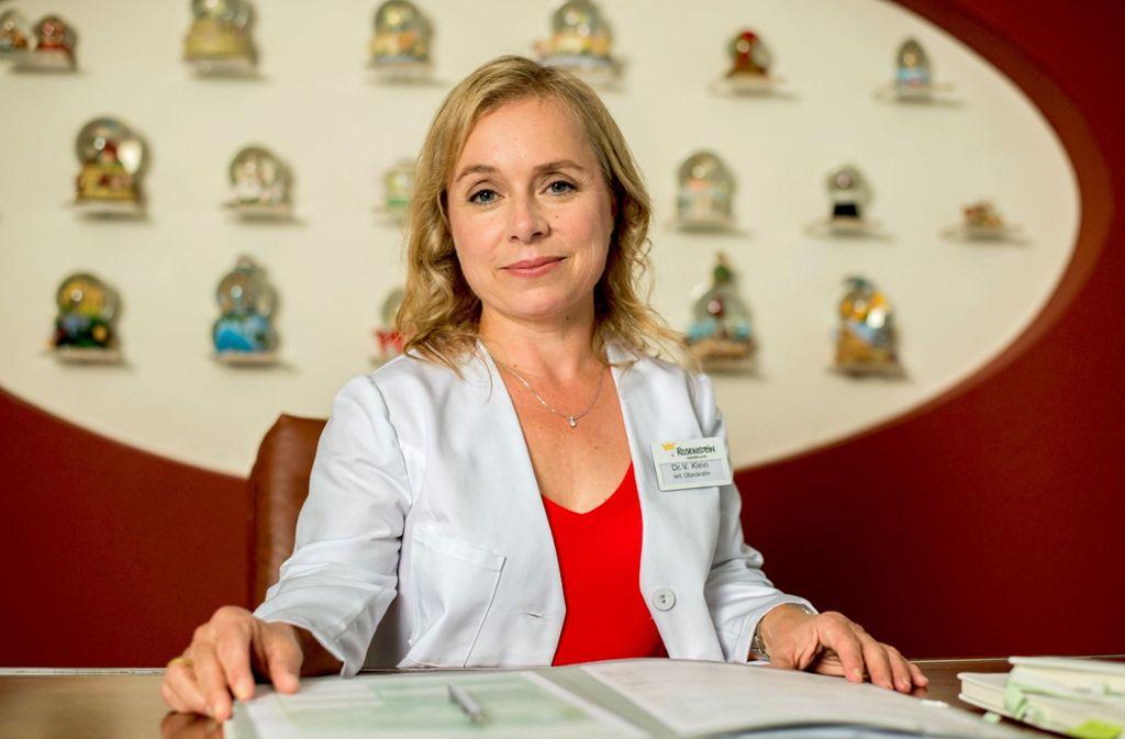 """Die   allerletzte Folge der ZDF-Serie  """"Dr. Klein"""" mit Christine Urspruch läuft am kommenden Samstag. . Foto: dpa"""