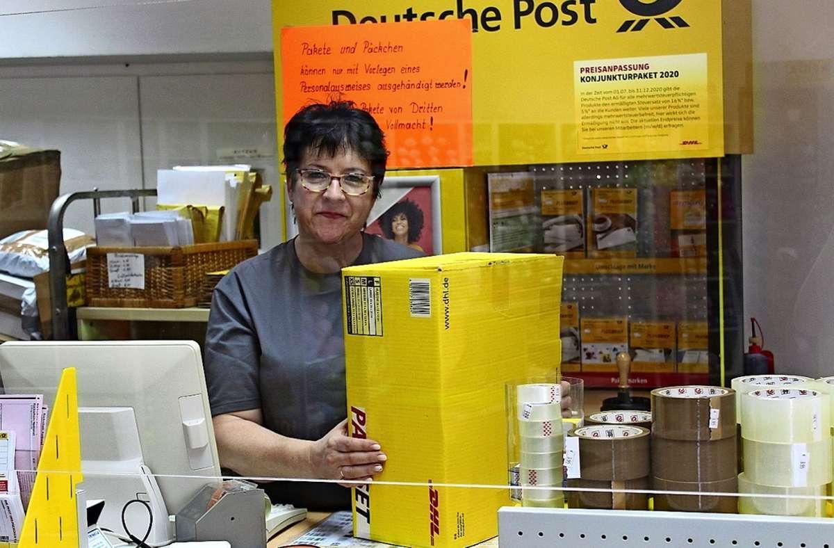 Heidi Käser hat das gern gemacht mit der Post, doch jetzt ist es genug. Foto: Fritsch