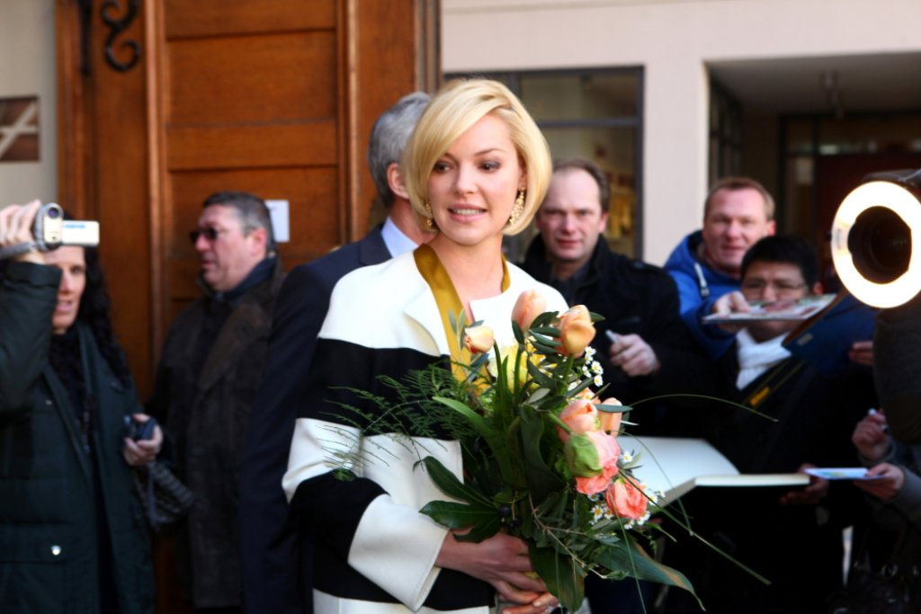 Hollywoodstar Katherine Heigl in Esslingen Foto: Beytekin