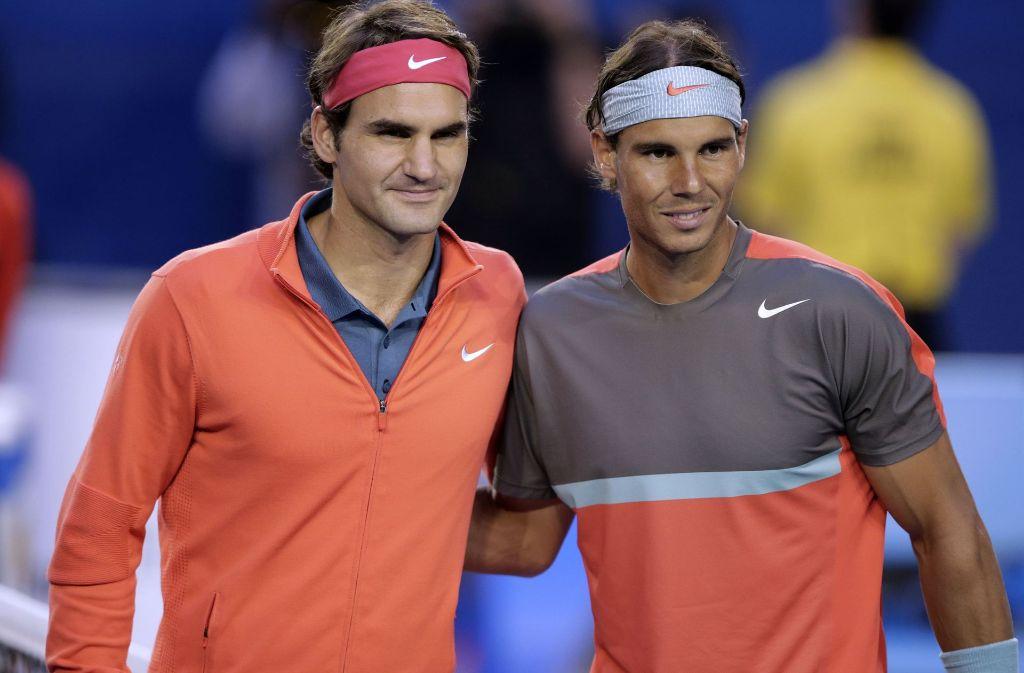 Die alten Rivalen Roger Federer und Rafael Nadal sind ins Halbfinale eingezogen. Foto: AP