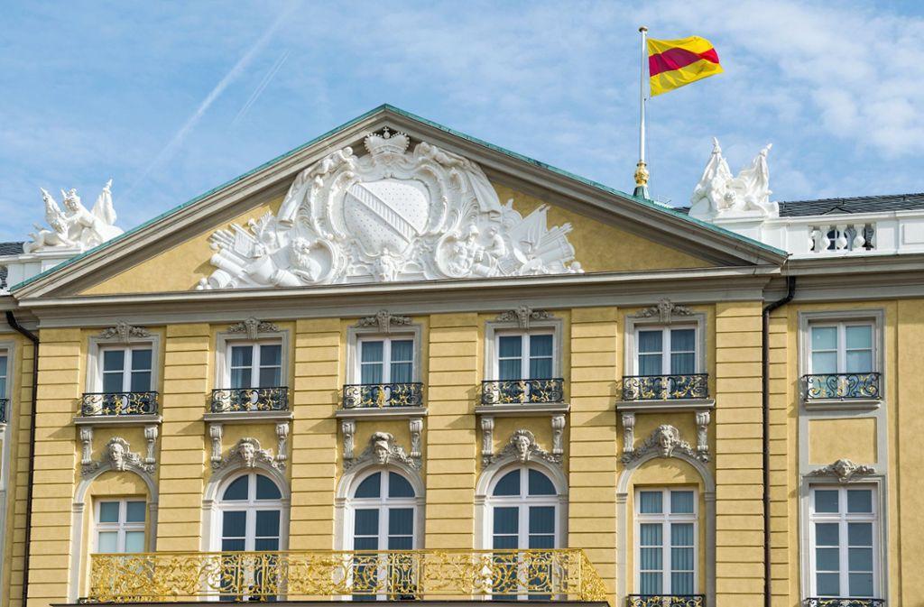 Die badische Flagge darf wieder auf dem Karlsruher Schloss wehen. Foto: Badisches Landesmuseum