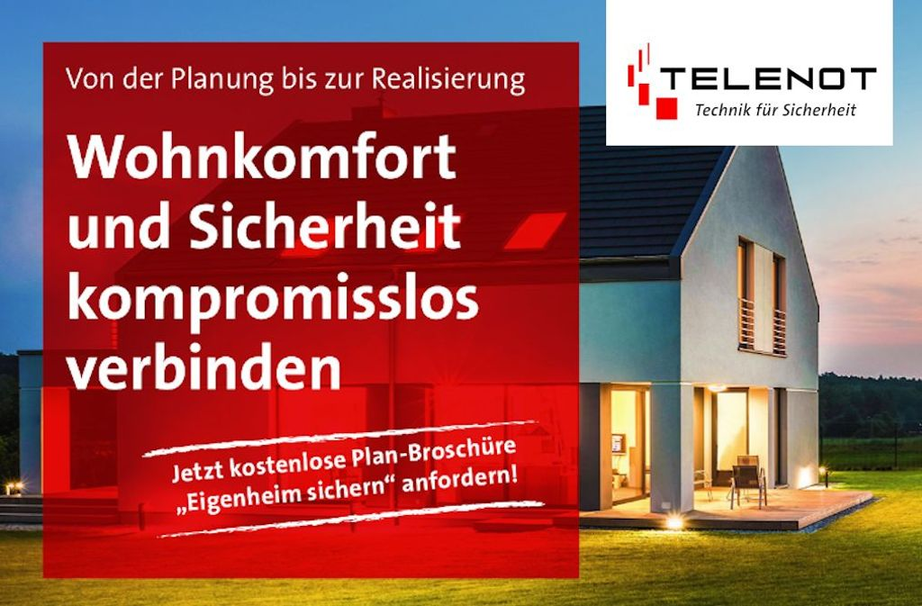 Wohnkomfort und Sicherheit kompromisslos verbinden – mit den Sicherungssystemen von TELENOT. Foto: TELENOT - Technik für Sicherheit