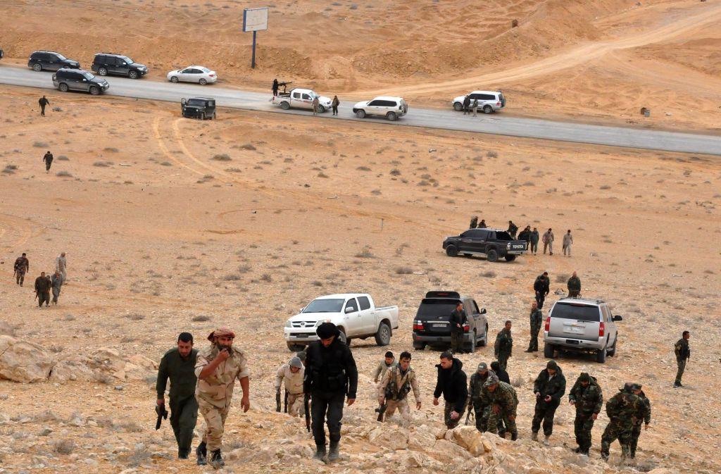 Das syrische Militär hat nach eigenen Angaben die Ruinenstadt Palmyra von der Terrormiliz Islamischer Staat zurückerobert. Foto: AFP
