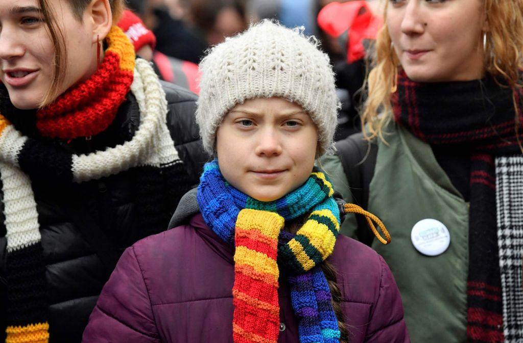 Greta Thunberg zeigt nach eigenen Aussagen mehrere Symptome des Coronavirus. Foto: AFP/JOHN THYS