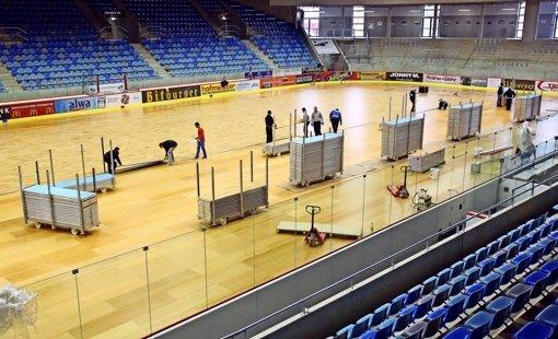 Wie handballtauglich ist die Eishalle?