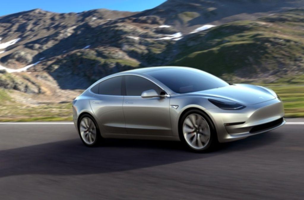 Das Model 3 von Tesla wird massentauglich – der Preis ist erschwinglich. Foto: dpa
