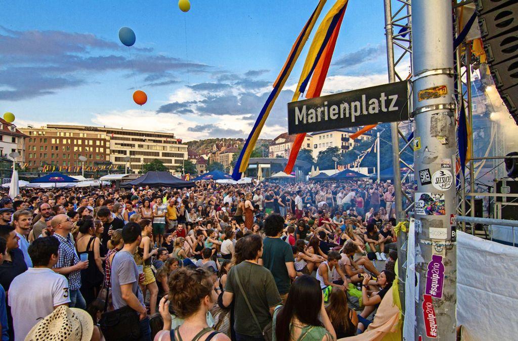 Das Marienplatzfest war letztes Jahr gut besucht. Foto: Lichtgut/Julian Rettig